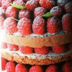 Torta de chocolate y frambuesas