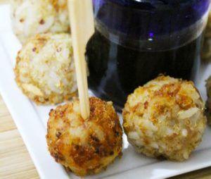 bocadillos de arroz y panchos