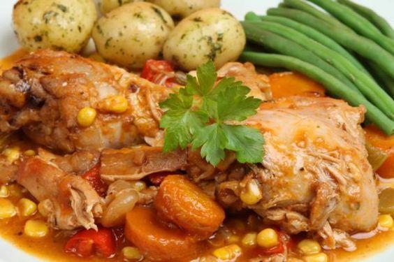 recetas fáciles de pollo con papas