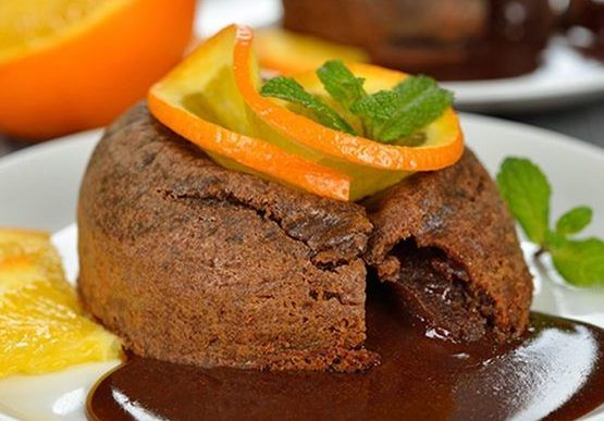 Coulant de chocolate y calabaza