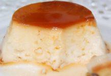 Flan de queso con nata