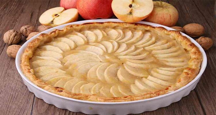 preparar tarta de manzana sin horno